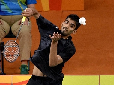 Rio de Janerio : India's Srikanth Kidambi plays against Lin Dan of China in the quarterfinal match of Men's Singles Badminton at 2016 Summer Olympics at Rio de Janerio in Brazil on Wednesday. PTI Photo by Atul Yadav (PTI8_17_2016_000295B)