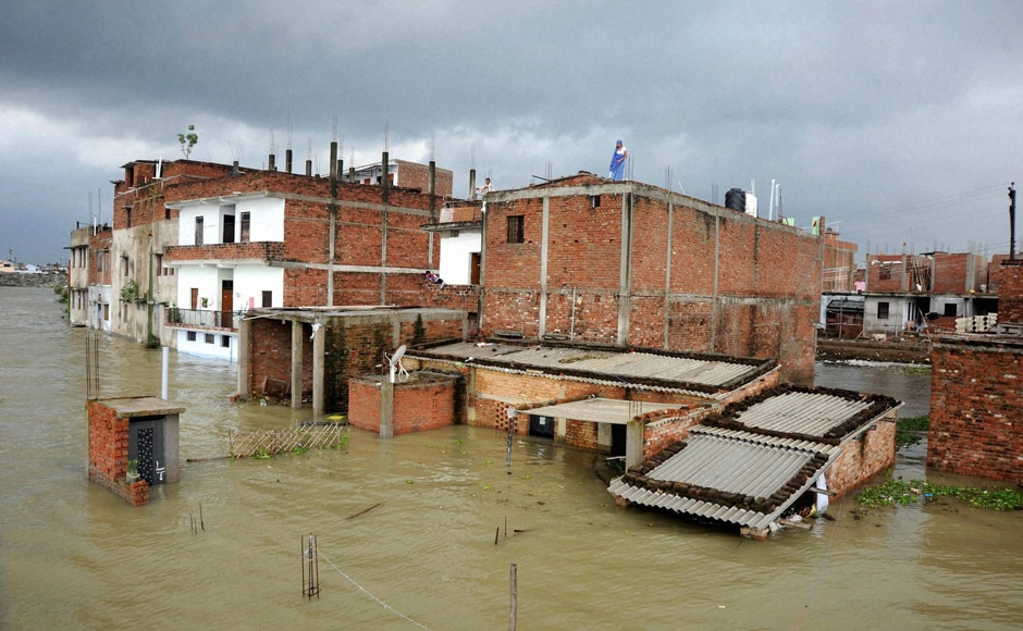 The Union Water resource ministry has cautioned that during the next 1-5 days, river Ganga is likely to flow in high to unprecedented flood situation in Uttar Pradesh. Yamuna too will flow in high to moderate flood situation. Thus, most houses were submerged at Chhota Baghara area in Allahabad on Thursday. PTI