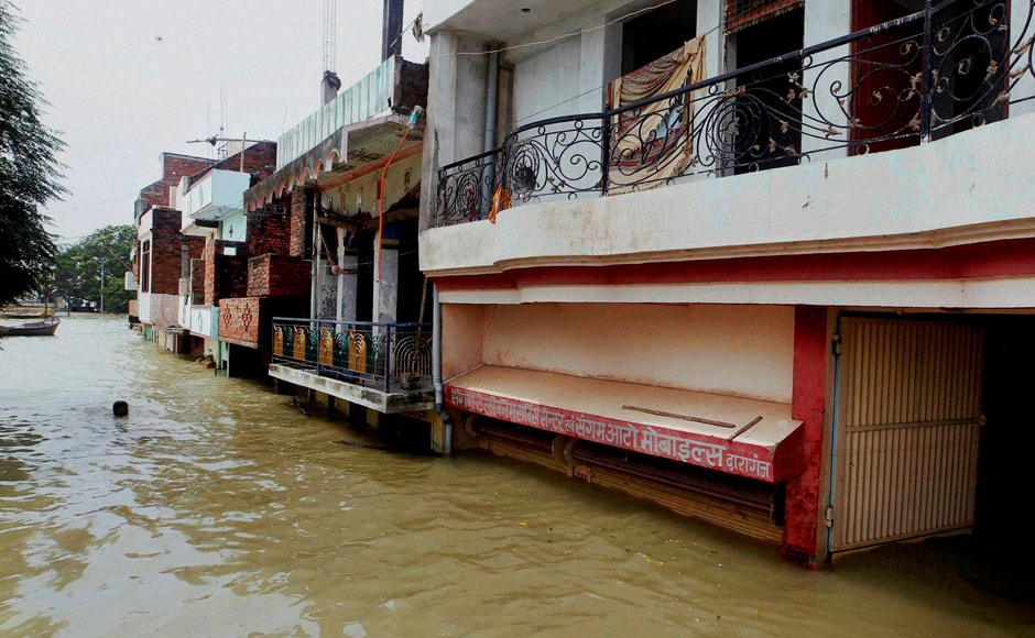 Water has started receding in flood-hit Allahabad city, an official said on Saturday. However, the district administration were highly concerned with the possibilities of an outbreak of diseases. PTI