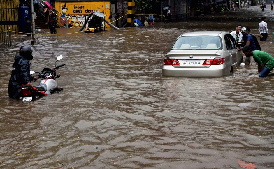 At 14.93 ft, the high tide which hit the city at 13. 38 pm IST on Friday, has been measured the highest this week at least. PTI