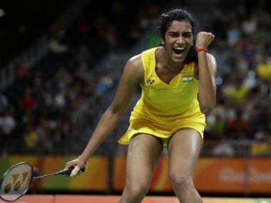 PV Sindhu became the first Indian women to reach a Badminton final at Olympics. AP
