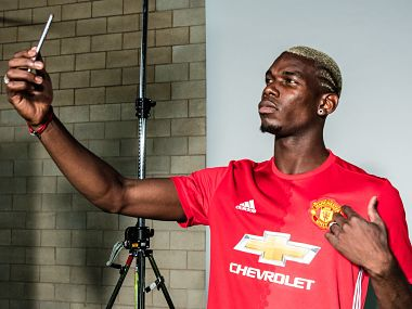File picture of Paul Pogba. Man United Twitter