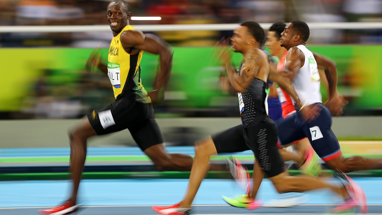 This photo shows why Usain Bolt is way ahead of his cotemporaries in sprinting arena. The maestro bid adieu to Olympics as he won 3 gold medals for Jamaica. Reuters