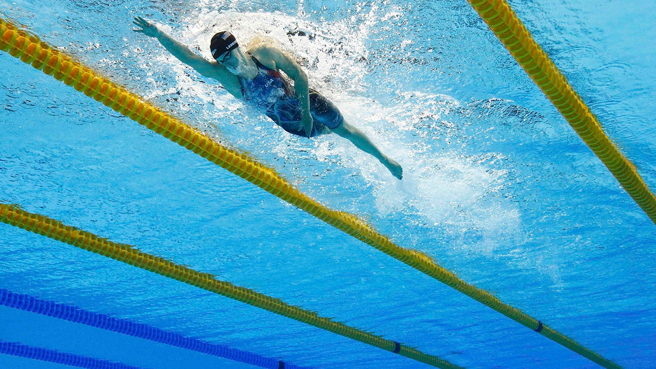 Katie Ledecky of USA competes on her way to winning the gold in Women's 800m Freestyle Final and setting a new world record. Ledecky grabbed four gold medals and 1 silver at Rio Olympics. Reuters