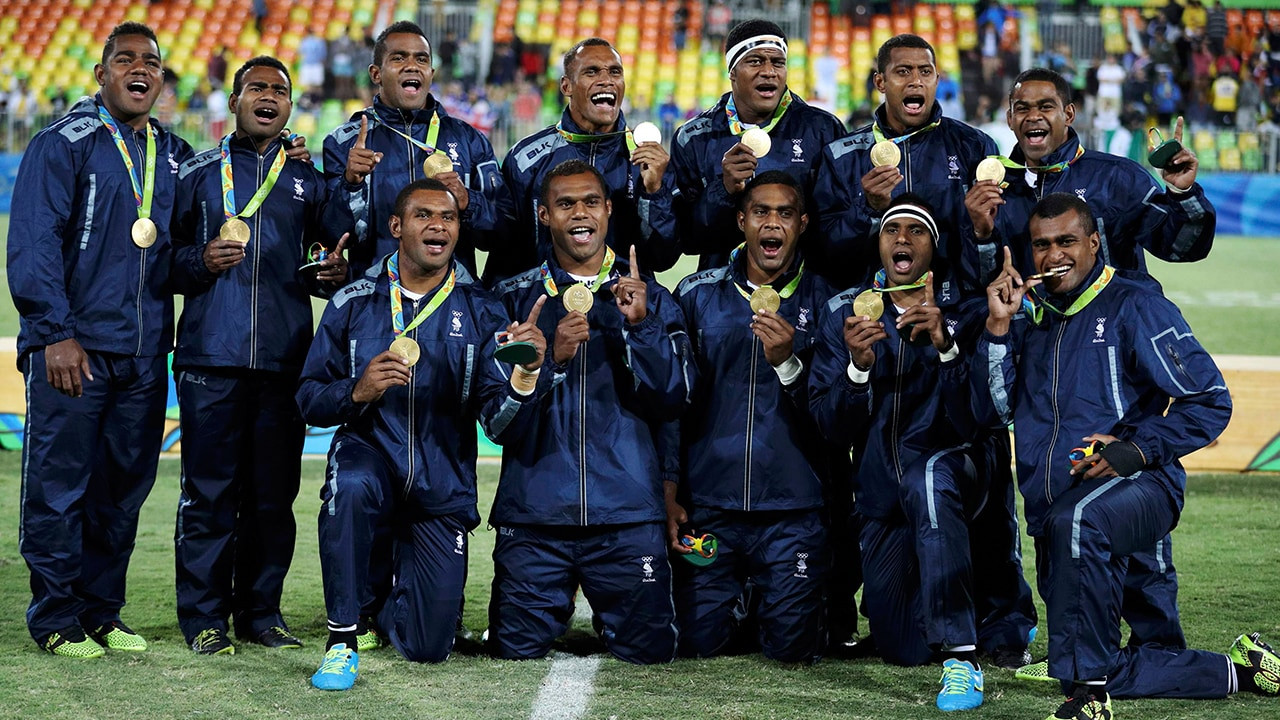 Fiji made Olympic history by securing their first-ever medal by winning gold in the rugby sevens final against Great Britain. Reuters
