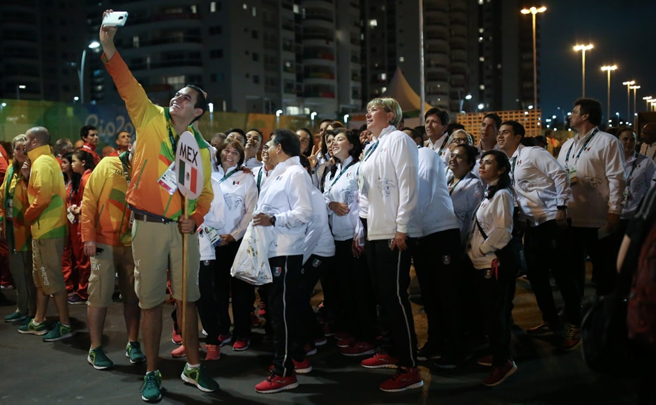 Team Mexico attends their welcome ceremony at the Olympic Village. Reuters