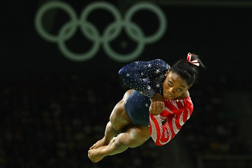 REFILE - CORRECTING BYLINE2016 Rio Olympics - Artistic Gymnastics - Preliminary - Women's Qualification - Subdivisions - Rio Olympic Arena - Rio de Janeiro, Brazil - 07/08/2016. Simone Biles (USA) of the U.S. competes on the floor exercise during the women's qualifications. REUTERS/Mike Blake FOR EDITORIAL USE ONLY. NOT FOR SALE FOR MARKETING OR ADVERTISING CAMPAIGNS. - RTSLNUE