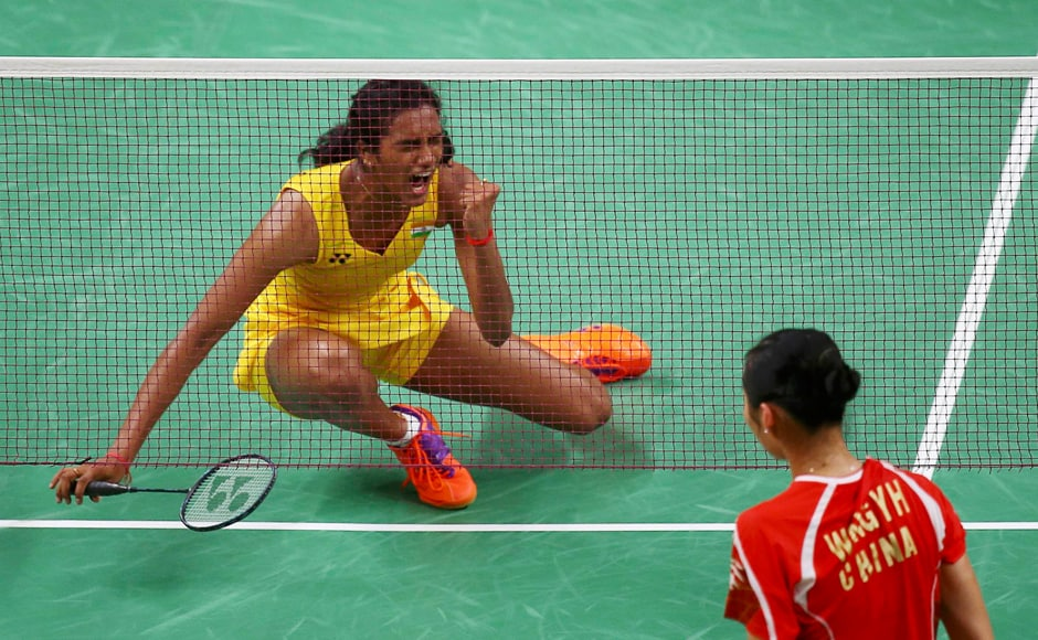 PV Sindhu became the second Indian badminton player to reach an Olympic semifinal after Saina Nehwal achieved the feat at London Olympics four years ago. AP