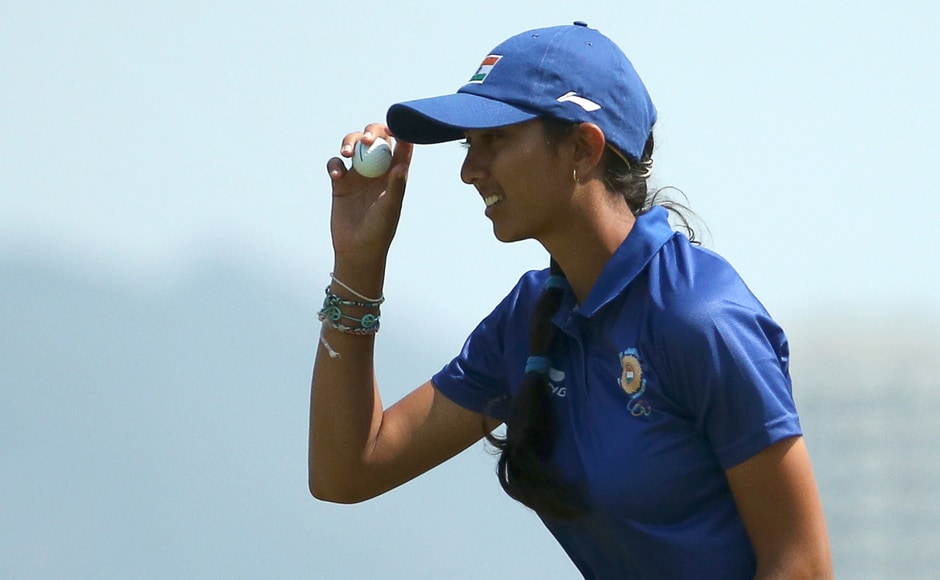Teen Indian golf sensation Aditi Ashok raised hopes of an Olympic medal for India as she stood just four strokes off the pace at tied 8th after the second round of the Women's Individual event. Reuters