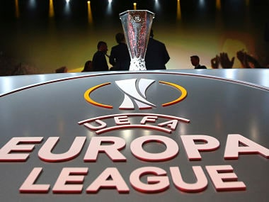 File photo of the Europa League trophy. Reuters