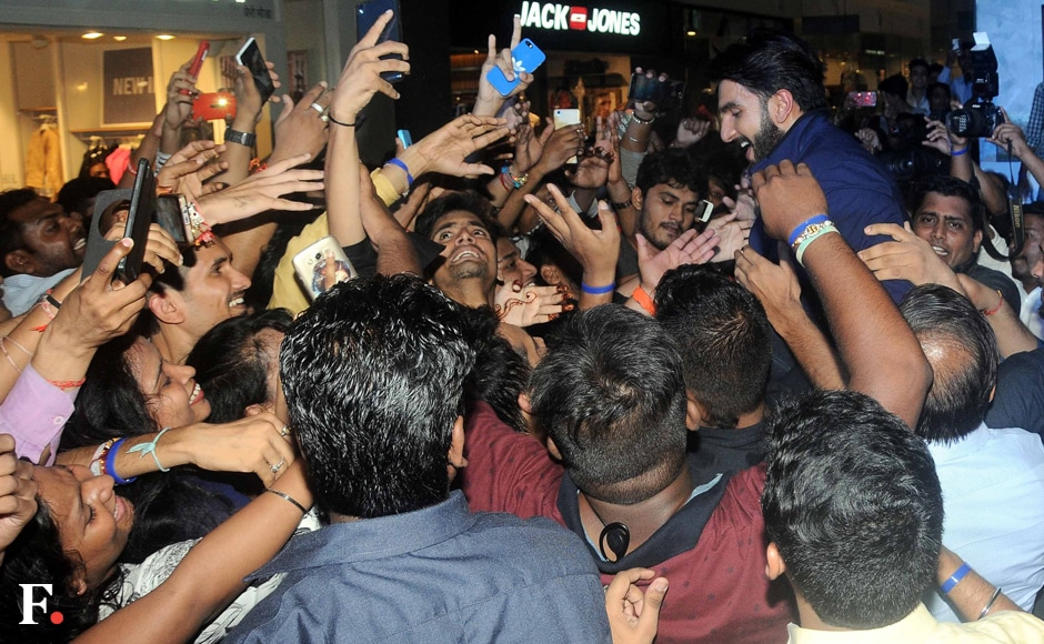 Who's the loudest? Ranveer or his fans? No brownie points for guessing. Sachin Gokhale/Firstpost
