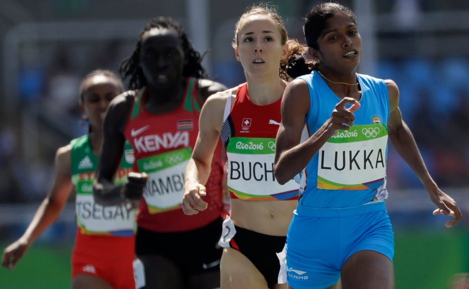 In athletics, Tintu Luka ran a poorly judged 800m race and exited from the fray after finishing sixth in her first round heat in 2:00.58 which gave her the overall 29th place from 65 participants. AP