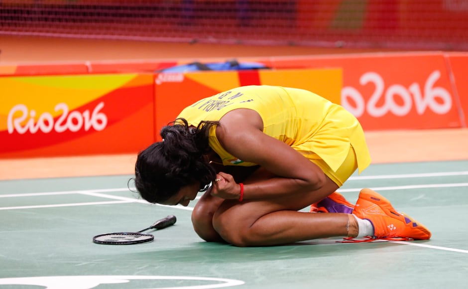 PV Sindhu scripted a 22-20, 21-19 victory in 54 minutes over the former World No one, who had beaten bronze-medallist Saina Nehwal at London Olympics. AP