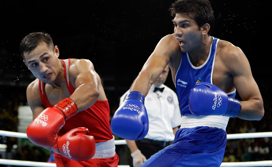 India's Manoj Kumar crashed out with a 0-3 loss to Fazliddin Gaibnazarov of Uzbekistan in the men's light welterweight (64kg) category. AP