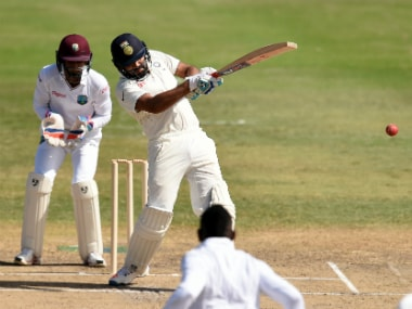 Rohit Sharma in action during the recently-concluded tour of West Indies. AP
