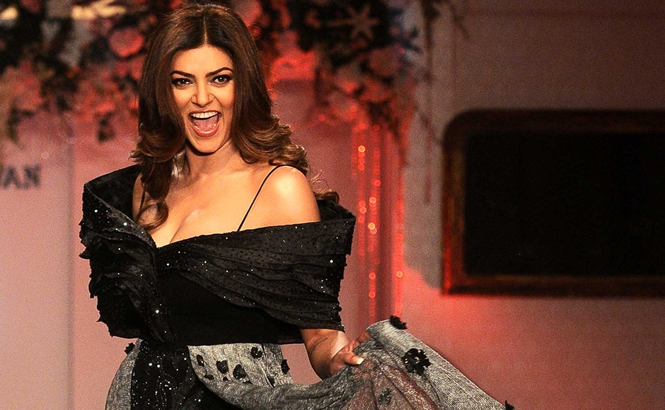 Former beauty queen and actress Sushmita Sen also walked the ramp. Sachin Gokhale/Firstpost