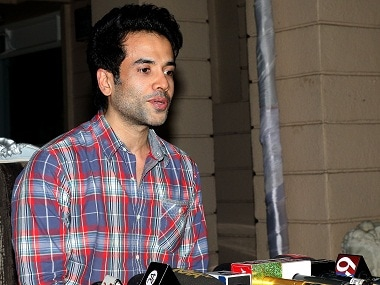 Tusshar Kapoor at the press conference where he announced he had become a father via surrogacy. Image by Sachin Gokhale/Firstpost