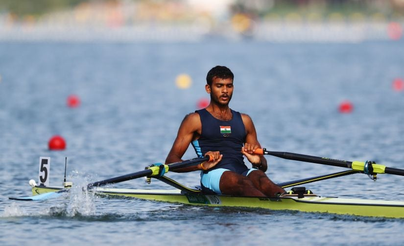 Rower Dattu Bhokanal had a commendable Olympic showing despite hailing from a drought-affected district of Maharashtra. Getty Images