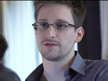 File photo of Edward Snowden. AP