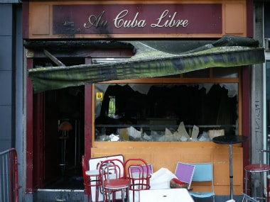 Au Cuba Libre in Rouen, northern France after the fire. AFP