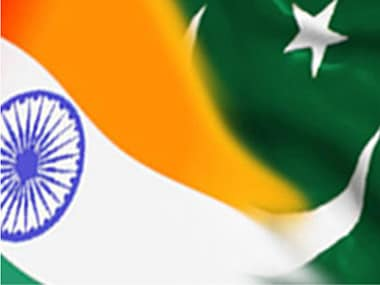 Representational image of India and Pakistan flags. IBNlive