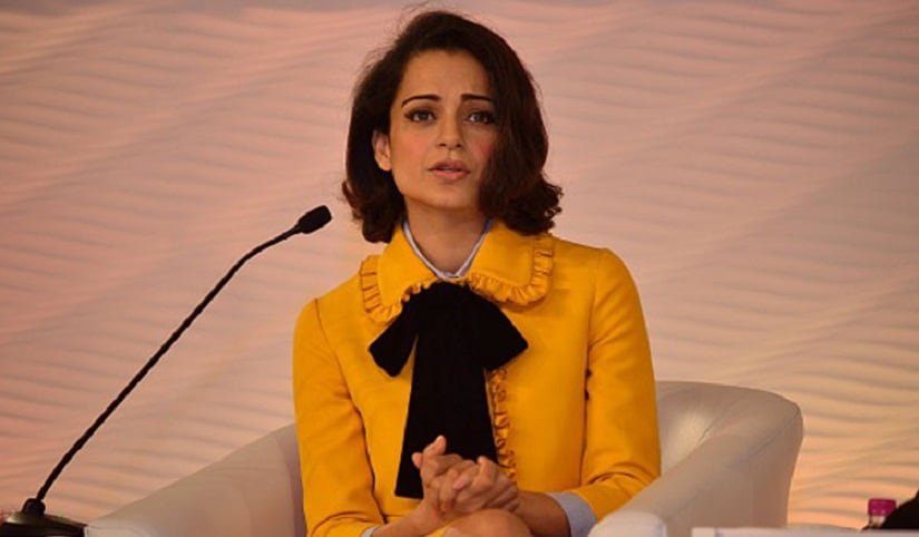 From the feminine to the severely androgynous, Kangana's comfortable sporting different looks. Image from IBN Khabar