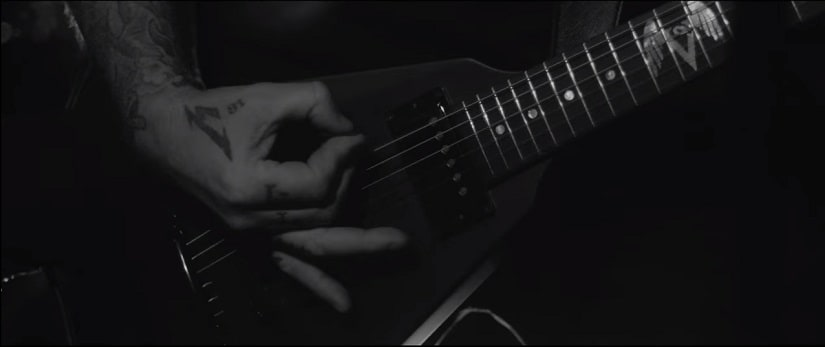 A screengrab from the video for Hardwired. YouTube