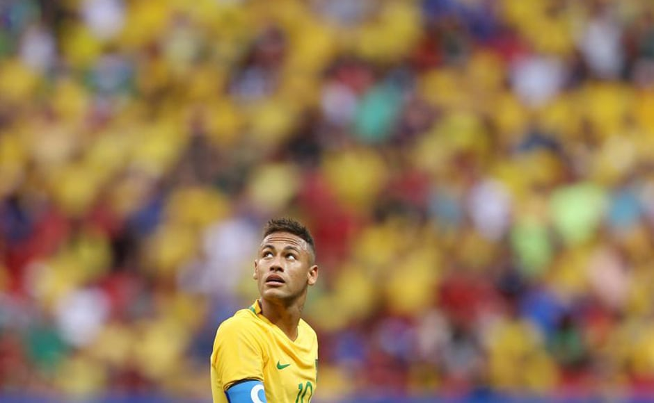 Despite the basketball disappointment, Brazilians had a reason to cheer as the football team beat Colombia 2-0 in the quarter-final. Neymar scored his first goal of the tournament in this match. Getty Images