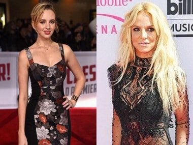 Natasha Bassett and Britney spears. Image courtesy: Instagram