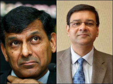Former RBI chief Raghuram Rajan and the newly-appointed Governor of RBI Urjit Patel. PTI