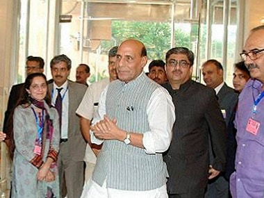 Islamabad: Union Home Minister Rajnath Singh arrives in Islamabad on Wednesday for SAARC summit. PTI Photo (Best quality available picture)(PTI8_3_2016_000349B)