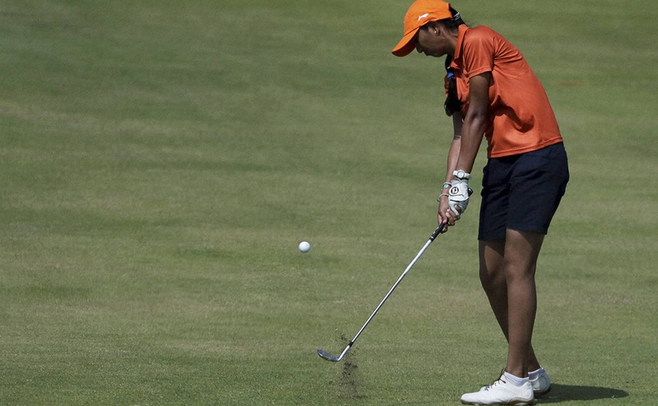 Aditi Ashok went through a horrendous third round of eight-over 79 to drop 23 places to be tied 31st in women's golf. The 18-year-old, who scored two successive three-under 68 to be tied eighth till 36 holes, played a poor back-nine where she was bogged down by five bogeys. AP