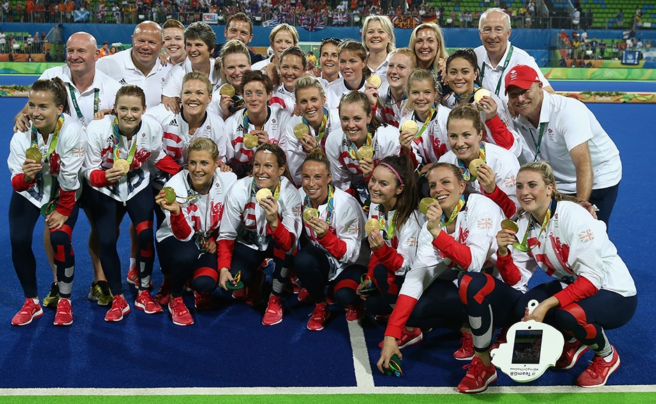 Great Britain won their first Olympic Games women's hockey gold medal with a dramatic shoot-out triumph over two-time defending champions, the Netherlands. Getty Images