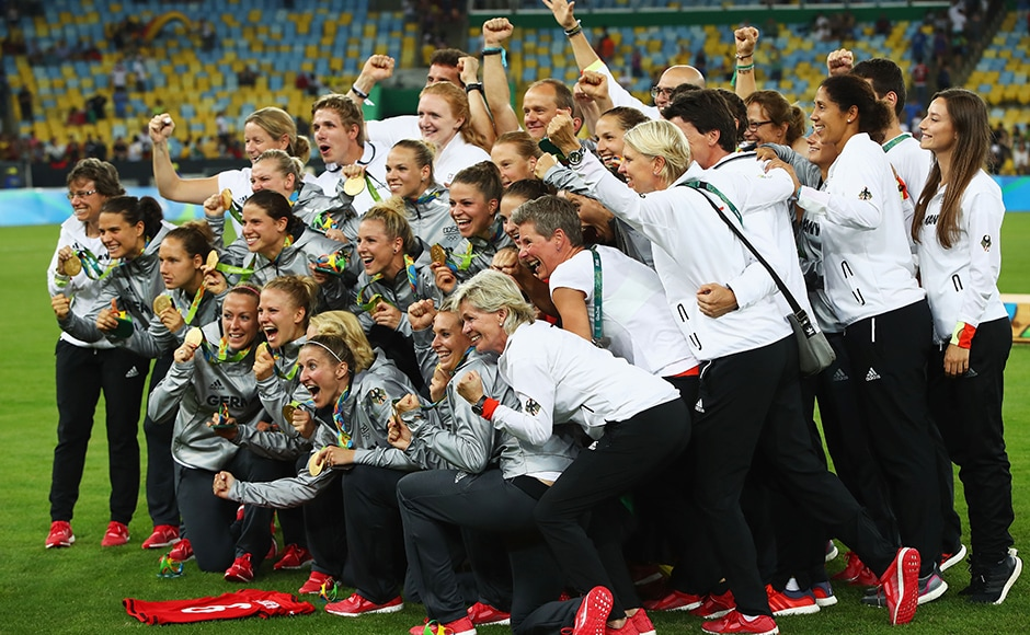 Germany handed departing coach Silvia Neid the perfect send off by claiming women's football Olympic gold for the first time thanks to a 2-1 win over Sweden in front of a huge crowd at Rio's Maracana. Getty