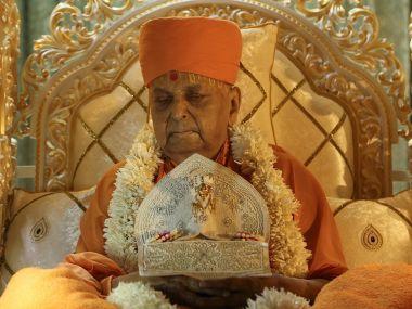 File photo of Pramukh Swaminarayan Maharaj. Twitter