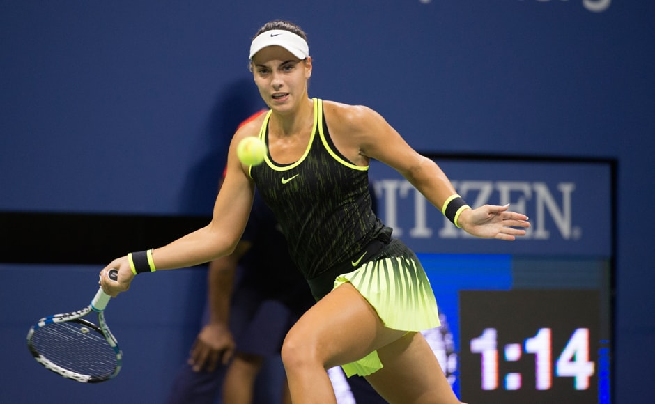 Aged just 18-years-old, Ana Konjuh has a booming serve and used it to good effect against fourth seeded Agnieszka Radwanska, overcoming the Pole 6-4, 6-4. Image courtesy: AFP