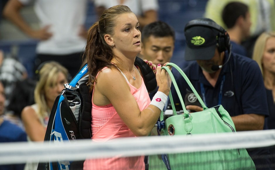 The much fancied Radwanska's US Open hoodoo continued with this defeat. She has now failed to make it past the round-of-16 at Flushing Meadows in five attempts. Image courtesy: AFP