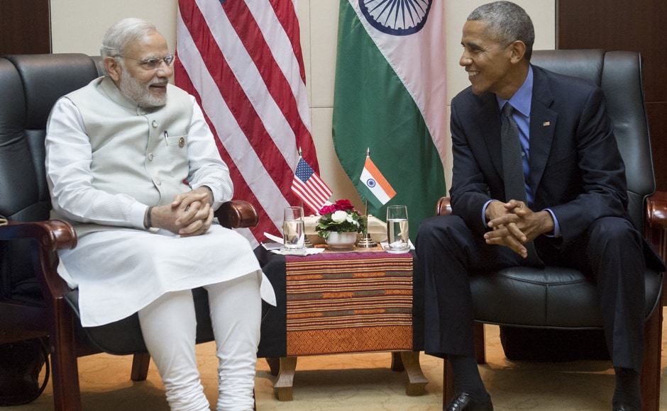 Modi met Obama and discussed the immediate priorities in the strategic bilateral partnership, including strengthening the civil nuclear cooperation and combating climate change. AFP