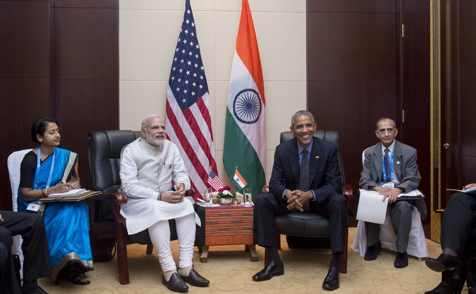 During the meeting, Obama praised Modi's vision of entrepreneurship and innovation, which he said would be