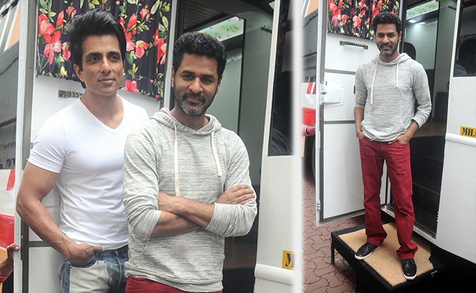 The film is slated to release in three languages, Hindi, Tamil and Telugu. The film will be called Tutak Tutak Tutiya in Hindi, Devi in Tamil and Abhinetri in Telugu. Prabhu Deva and Sonu Sood pose for the media. Image courtesy: Sachin Gokhale/Firstpost
