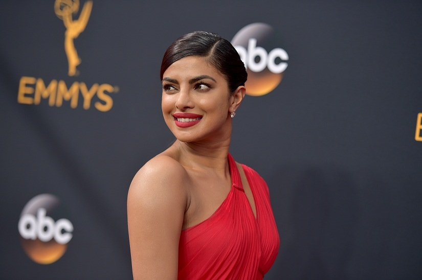 Priyanka Chopra arrives at the 68th Primetime Emmy Awards on Sunday, Sept. 18, 2016, at the Microsoft Theater in Los Angeles. (Photo by Richard Shotwell/Invision/AP)