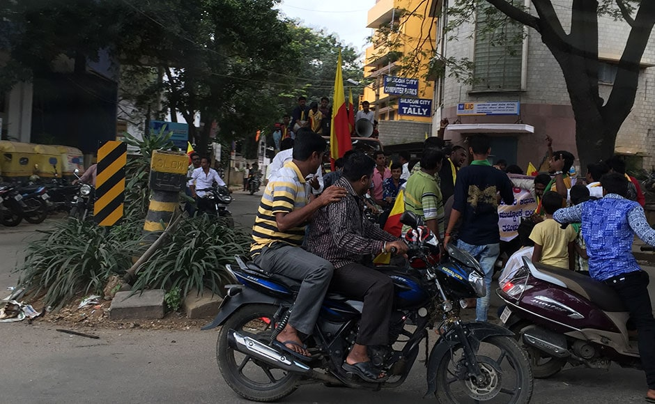 A mass strike shut down India's technology capital Bangalore on Friday, with hundreds of companies forced to remain closed and public transport services cancelled as thousands took to the streets over water shortages. Firstpost / Janaki Murali