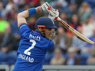 Alex Hales' broken hand has cost him a place in England's one-day series in the West Indies. AFP