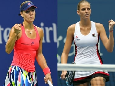 Angelique Kerber takes on Karolina Pliskova in the US Open final.