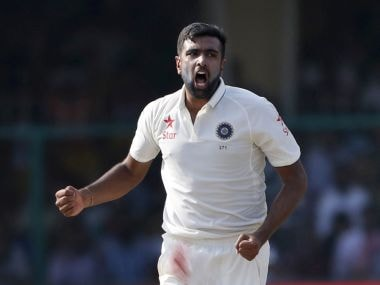 India's Ravichandran Ashwin celebrates a wicket. AP