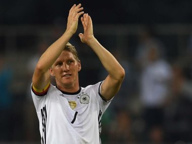Germany's midfielder Bastian Schweinsteiger bid farewell to international football. AFP