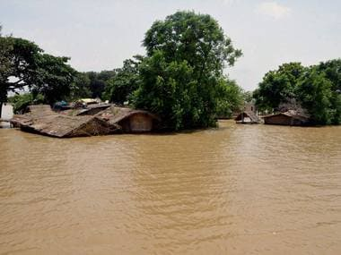 An image of the recent floods in Bihar's Danapur-Diyara. PTI