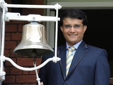 File photo of Sourav Ganguly at Lord's. Image courtesy: Twitter/HomeofCricket