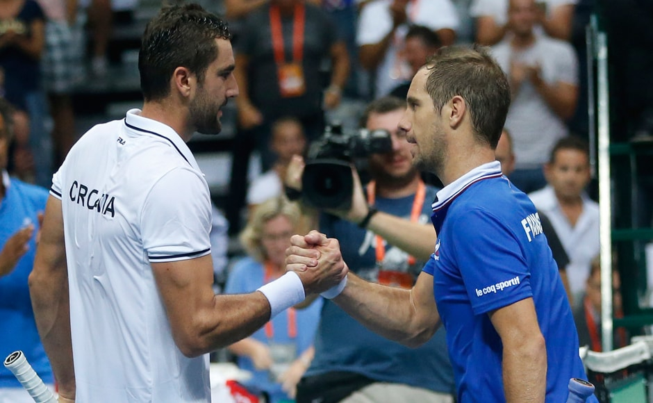 Croatia qualified for the Davis Cup final after Marin Cilic defeated Richard Gasquet 6-3 6-2 7-5 against that gave the hosts a 3-2 win over France. AP