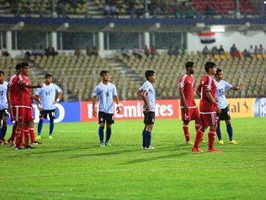 India lost 2-3 to UAE in AFC U-16 championship opener. Twitter@AIFFMedia